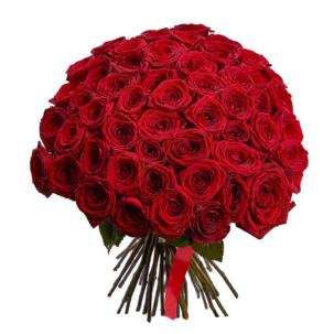 Акция! Розы Красные 51 шт.