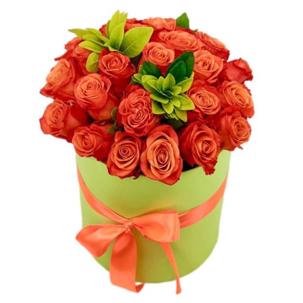 """Цветы в коробке """"Аметист"""""""