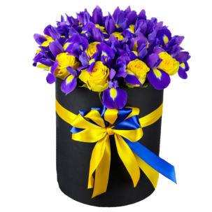 """Цветы в коробке """"Фиолетовые бабочки"""""""