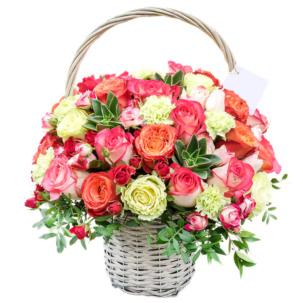 """Цветы в корзинке """"Дыхание любви"""""""