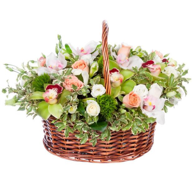 """Цветы в корзинке """"Колокольчик"""""""