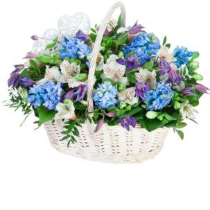 """Цветы в корзинке """"Седьмое небо"""""""