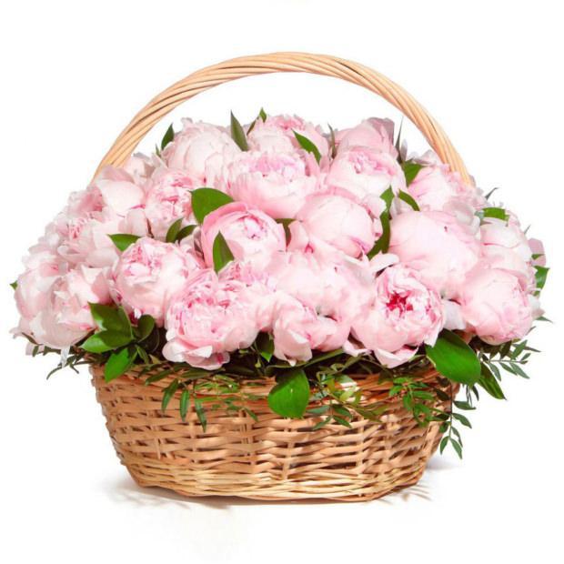 """Цветы в корзинке """"Зефир"""""""